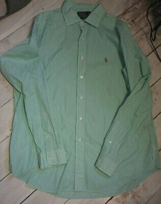 GENUINE Men's POLO by Ralph Lauren Stanton Custom Fit Stripe Shirt Size (XL)