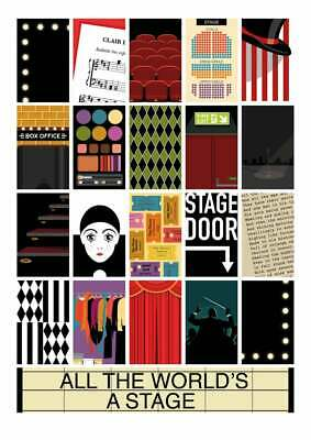 Theatre Poster Print A0, A1, A2, A3, A4 GLOSSY Wall Photo Poster