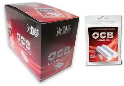 FILTRI OCB LONG SLIM 6 mm IN BAG 1 BOX 34 BUSTINE DA 100 FILTRI