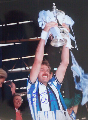 Brian Kilcline Coventry City towers over the Ref signed Photo 16 x 12 COA Proof