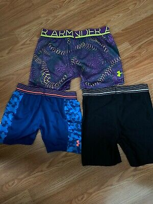 Youth XLG Under Armour Girls Shorts, Athletic Compression Volleyball Lot (3)