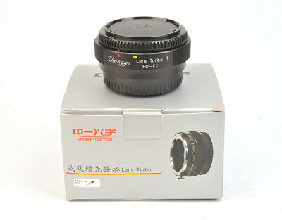 New Mitakon Zhongyi Reducer Adapter Turbo II Canon FD To Fuji/Fujifilm FX