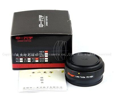 Mitakon zhongyi lens turbo speed booster Adapter Canon FD to Sony E NEX A9 A6500
