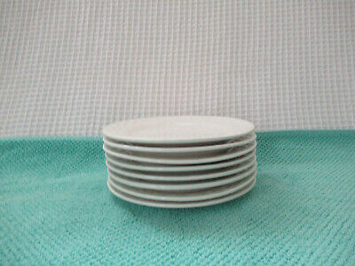 """Oneida PICNIC White Embossed Set of 8 (6"""") Bread  Plates Preowned NICE!"""