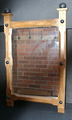 A Fabulous Arts & Crafts Oak Wall Mirror
