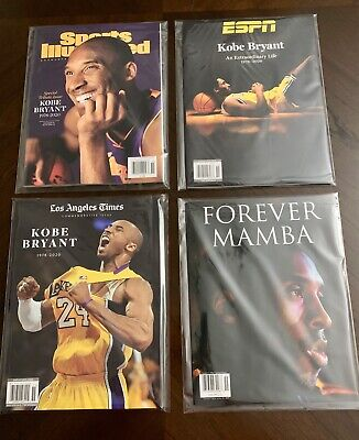 SHIP NOW Kobe Bryant Magazine Set Sports Illustrated LA Times ESPN Forever Mamba