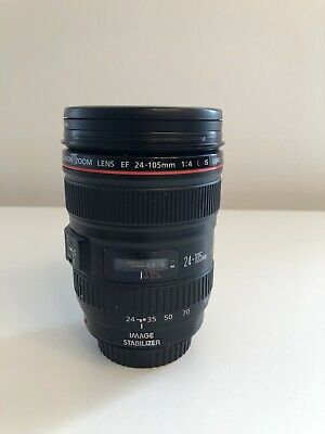 Canon EF 24-105mm f/4 IS USM Zoom with lens hood,caps, pouch & filter Pristine