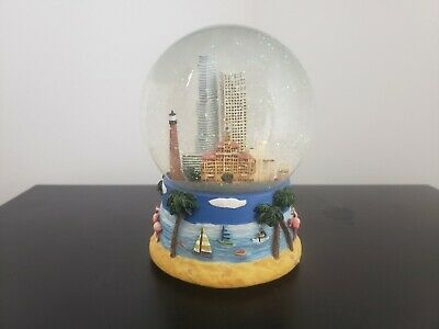 Rare Bloomingdales Miami Musical Snow Globe