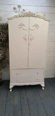 Beautiful Vintage Painted French Wardrobe Lovely Interior CAN ARRANGE COURIER