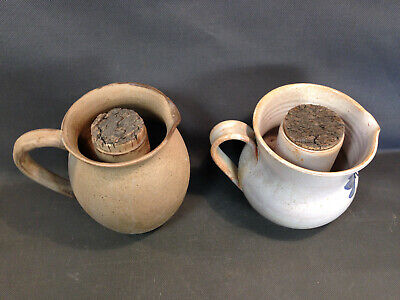 Set of 2 Antique Pot in Eau Sandstone Vintage with Tank in Ice Deco BAR
