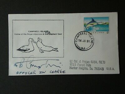 New Zealand Campbell Island Cover OIC signed, 1991