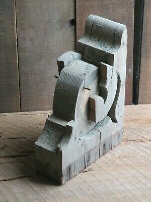 Antique Wood Corbel Gingerbread Augusta Georgia Architectural Chippy GreenH
