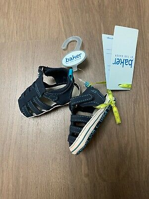 New Ted Baker Baby Boys Blue Sandals Shoes Size 0-3 Months