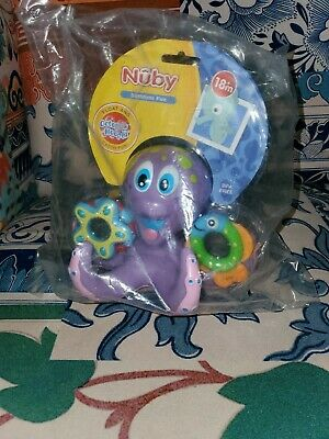 New! Nuby 6144 Octopus Hoopla™ Floating Bath Toy Free Shipping!