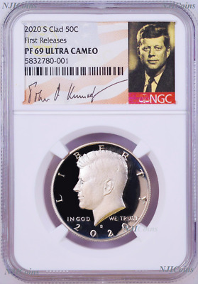 2020 S Proof Kennedy Half Dollar 50c NGC PF69 Ultra CAMEO First Releases