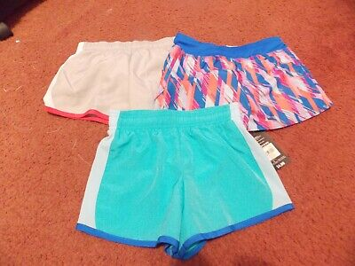 girls lot of 3 pairs athletic lined running shorts size 6/6x---nwt--1