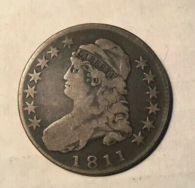1811 Capped Bust Half Lettered Edge. nice coin
