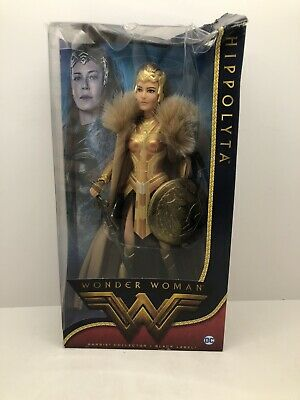 Barbie Doll Wonder Woman Hippolyta DC Black Label 2016 Collector New -BOX DAMAGE