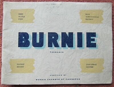 c1950  Chamber of Commerce Brochure:  BURNIE  (Tasmania)  ....  (32 pages)