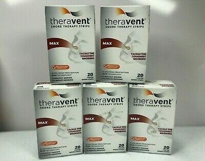 5 - Theravent Snore Therapy Strips - Max - 20 strips/box - Expires 10/20