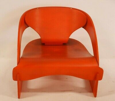 1960's Joe Colombo 3 pieces lounge chair by Kartell