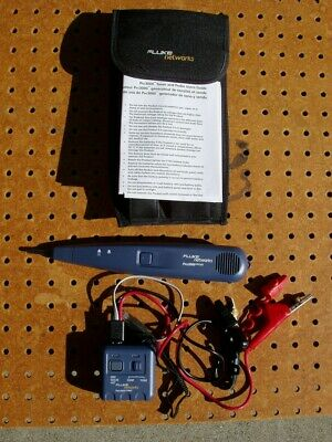 Fluke Networks Pro3000 Analog Tone Generator & Probe Kit Excellent Condition