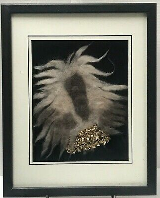 AFGHAN HOUND National Specialty Dog FRAMED FELTED HAIR 2006 Fur SHADOW BOX Art