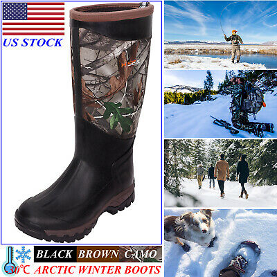 HISEA Men's Boots Waterproof Arctic Winter Rain Snow Muck Boots for Work Hunting