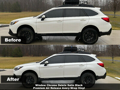 Crux Moto Window Chrome Delete Air Release fits 2015 - 2019 Subaru Outback