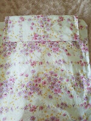 Vintage Sheridan Double bed fitted sheet and 1 pillow case