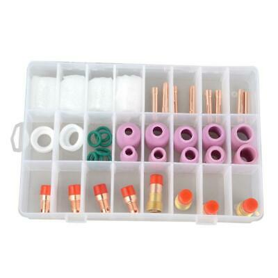 40PCS TIG Welding Torch Stubby Gas Lens #10 Glass Pyrex Cup Kit For WP-17/18/26