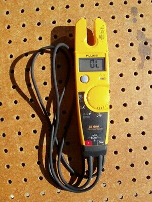 Fluke T5-600 600A Voltage Continuity & Current Tester Meter Open Jaw Good Cond