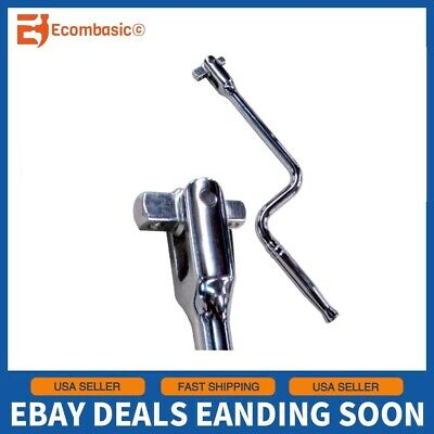 "1/2"" & 3/8"" Double Drive Speed Handle Socket Wrench Snap On Hand Crank Vanadium"