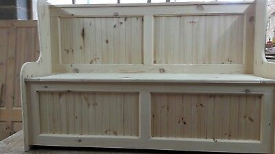 4ft Church pew Monks bench Settle storage