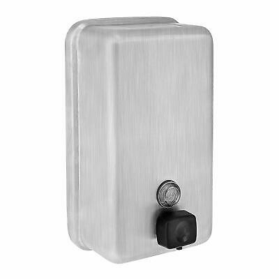 Alpine Industries 40oz Stainless Steel Vertical Manual Liquid Soap Dispenser