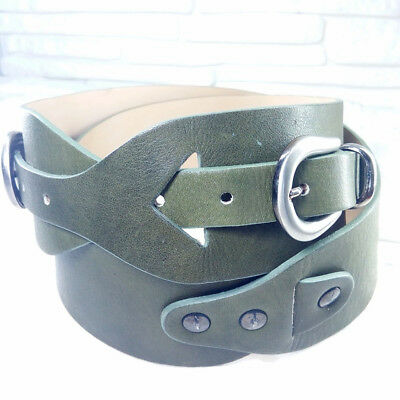 Green belt woman Made in italy genuine leather NEW belt LALTRAMODA brand