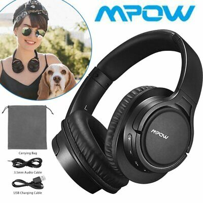 Mpow H7 Wireless Headset Bluetooth Headphones Noise Cancelling Over Ear HiFi Mic