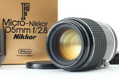 【MINT in BOX】 Nikon Ai-s Micro Nikkor 105mm F2.8 Lens w/ Hood From Japan #326