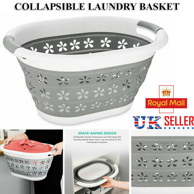 Large Collapsible Foldable Pop Up Laundry Cloth Washing Basket Space Saving Bin