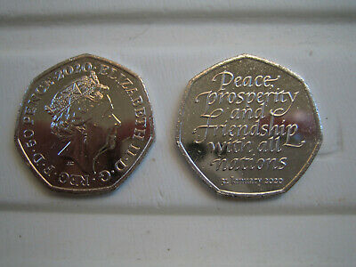 brexit 50p coin (from sealed bag)
