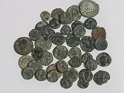 Superb Lot Of 40 Ancient Bronze Roman Coins Various Rulers Very Interesting