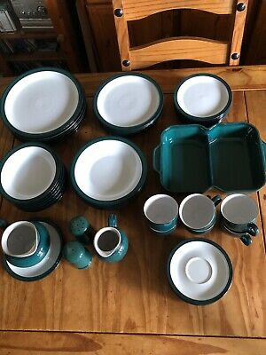 Denby Greenwich dinner service and tableware. Excellent condition.