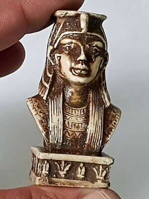 Fantastic Quality Rare Ancient Egyptian Bust Head 53,4 Gr62 Mm