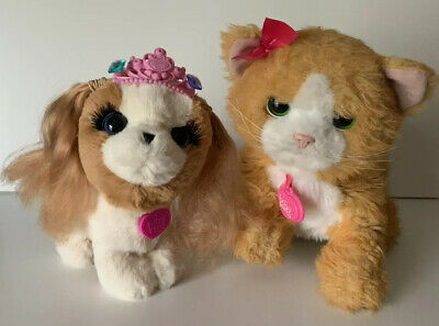 2 Furreal Friends Interactive Toy Pet Cat & Dog