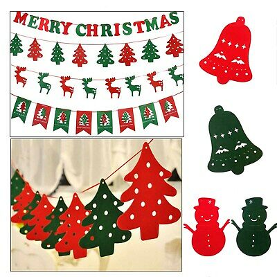UK Xmas Pennant Hanging Garland Felt Sign Flags Banner Bunting Party Decor