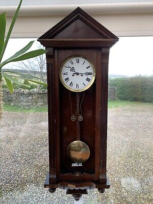 Gustav Becker P64 Twin Weight  German Vienna Wall Clock. **Requires Repair**