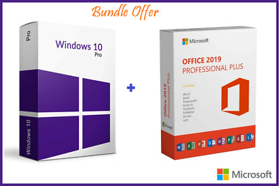 Windows 10 Pro with Office 2019 LIFETIME ACTIVATION & INSTANT DELIVERY 30 SECOND