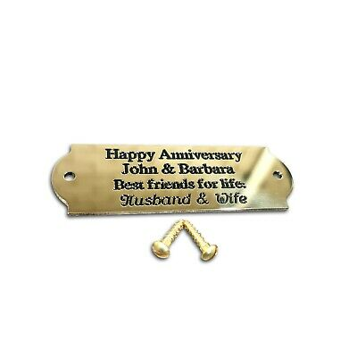 Curved end design solid brass engraved small name plaques