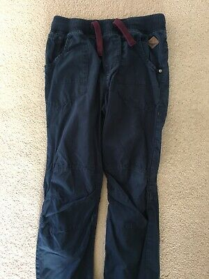 NEXT boys Pull On Ribbed Waist Blue Navy Trousers Age 13 Years