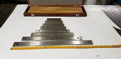 """8-PC Mitutoyo 516-712,  5"""" - 20"""" Long Gauge Block Set Four Sizes are DoAll Brand"""